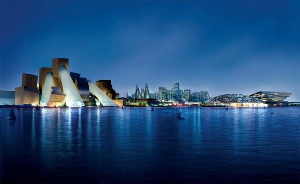 El Louvre y el Guggenheim en una isla