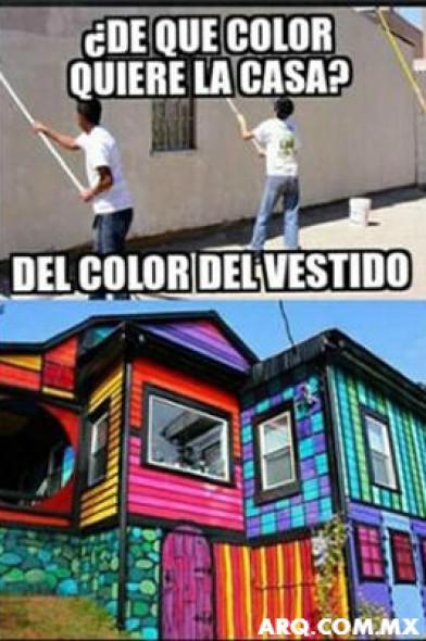 Humor en la arquitectura. De qué color es la casa