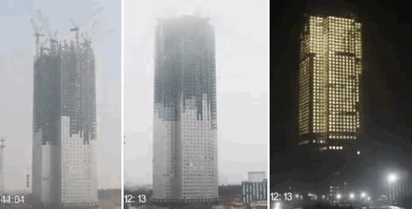 Torre de 57 pisos creada en 19 días