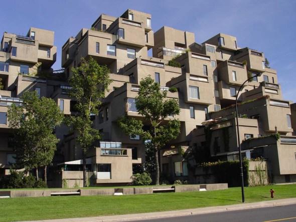 Edificio escalonado. Habitat 67 de Moshe Safdie
