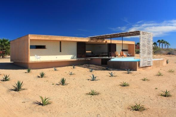 Casas tradicionales mexicanas de playa