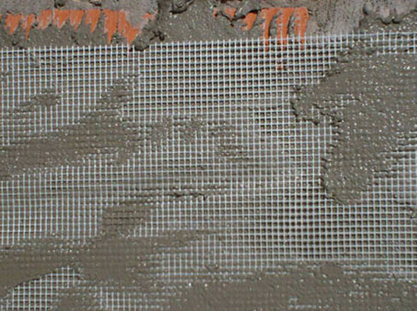 Mallas de fibra de vidrio. Refuerzos anti fisura