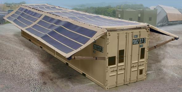 Cobertores fotovoltaicos para carpas y contenedores