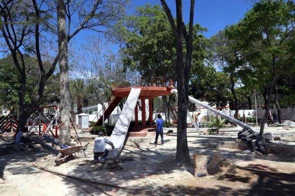 Parque Rojo de Luis Barragán tiene nueva vida