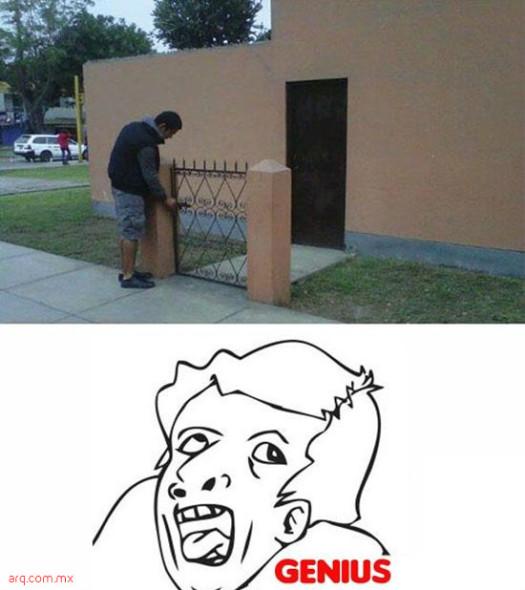 Humor en la arquitectura. Ante todo la seguridad