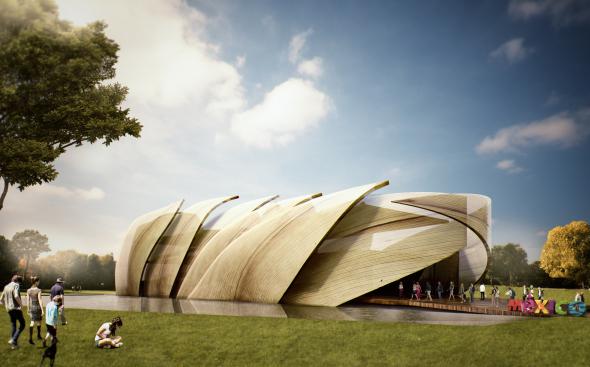 Pabellón de Mazorca de México para la Expo Milán 2015 a fondo