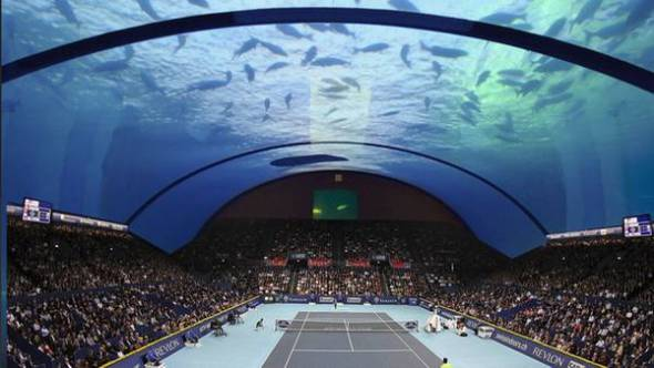 Cancha de tenis bajo el agua, el costoso capricho de Dubai