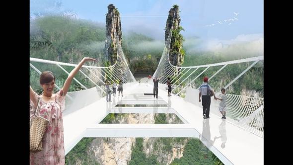 China tendrá el puente con el piso de cristal más largo y alto del mundo