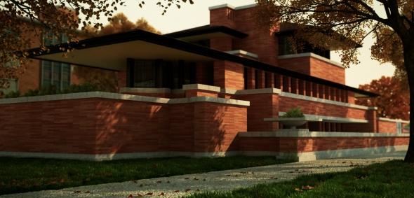 Robie House obra cumbre de la arquitectura moderna. Frank Lloyd Wright