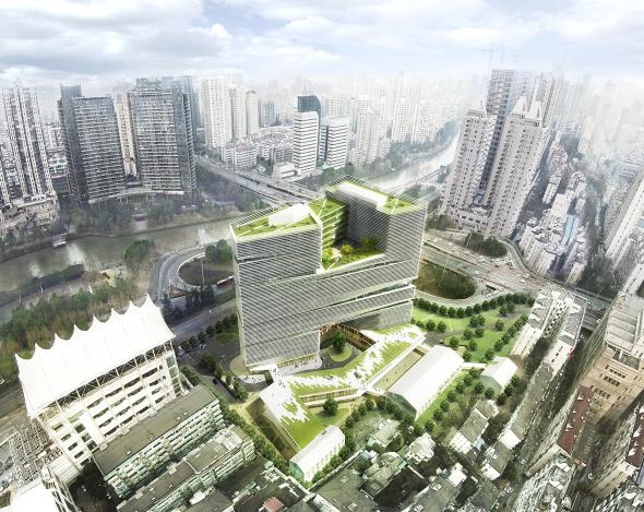 LYCS Architecture devela rascacielos relleno de elementos naturales en Hangzhou
