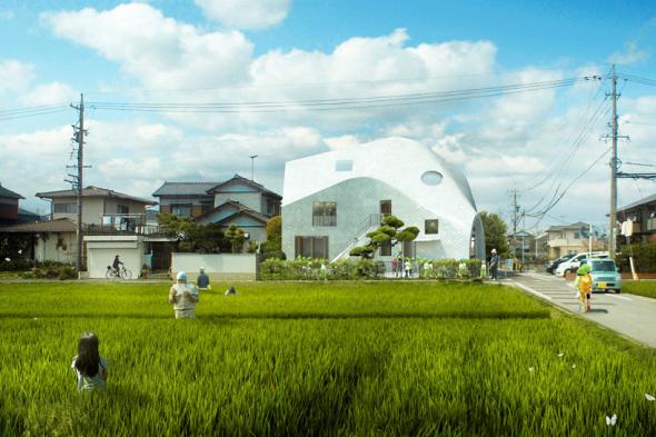 Casa trébol construido por MAD Architects invade suelo Japonés