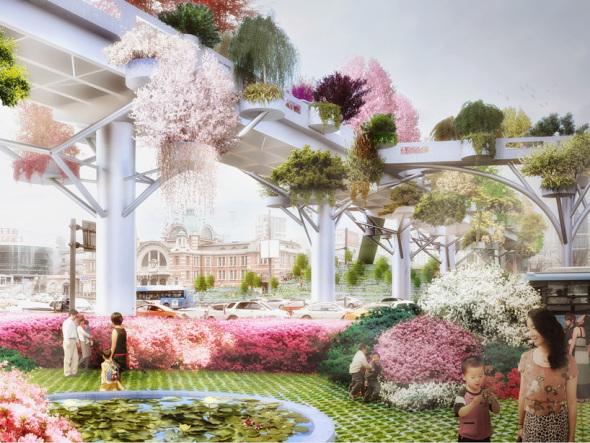 MVRDV transformará autopista abandonada en un parque elevado