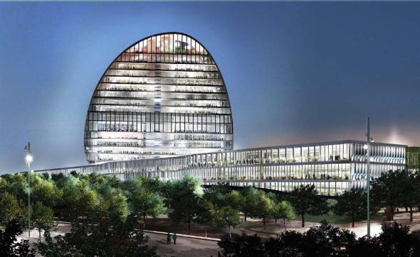 La nueva sede del BBVA, el poder de la silueta