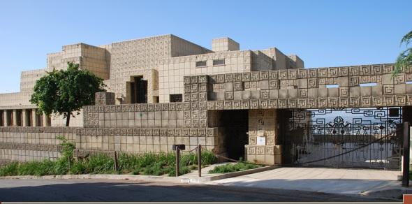 La influencia maya. Ennis House de Frank Lloyd Wright