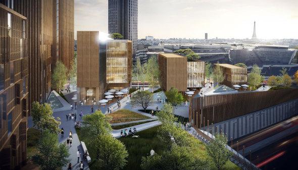 Propuestas de Torres para París serían las Estructuras de Madera más Altas del Mundo