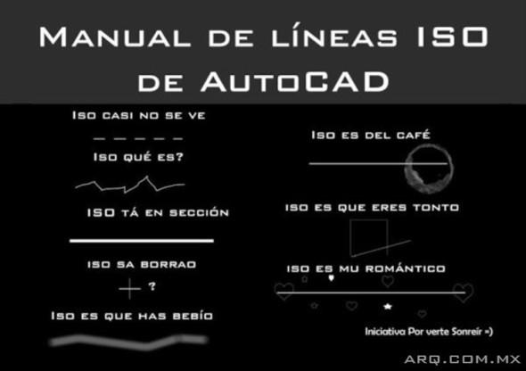 Humor en la Arquitectura. Manual de líneas de AutoCAD