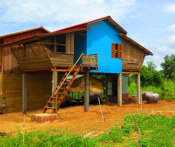 Viviendas de bambú que fueron construidas por sólo 2500 USD cada una