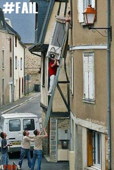 Humor en la Arquitectura. Mudanzas