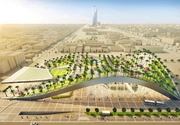 Estación del metro inspirada en las dunas de Arabia Saudita