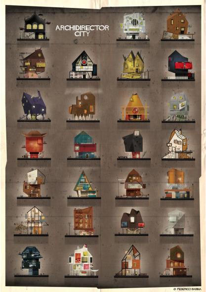 Las casas de los directores de cine como Kubrik, Lucas y otros en la visión de Federico Babina