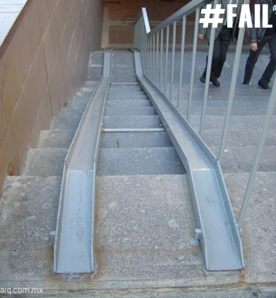Humor en la Arquitectura. Rampa