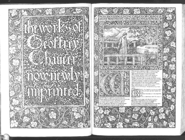 William Morris y The works of Geoffrey Chaucer