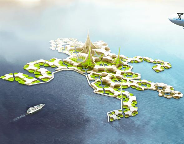 Primera ciudad flotante autosuficiente del mundo