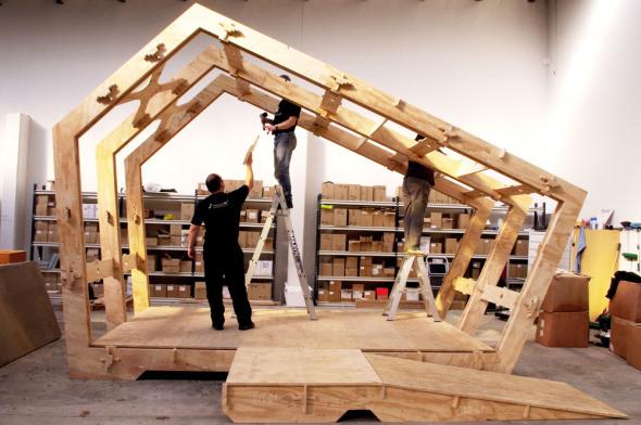 Imprime tu casa en 3D que se ensambla como los  bloques lego