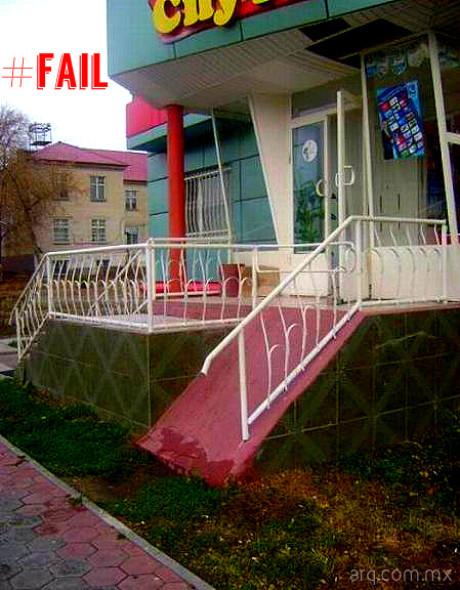 Humor en la arquitectura. Ángulo de rampas