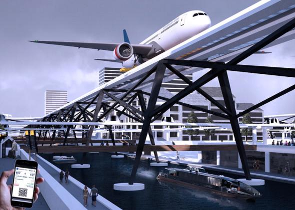 El plan alocado de construir un aeropuerto justo por encima de calles de la ciudad