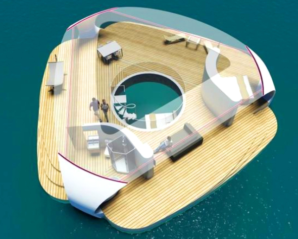 Villas Flotantes con dormitorios sumergidos te permiten dormir bajo el mar
