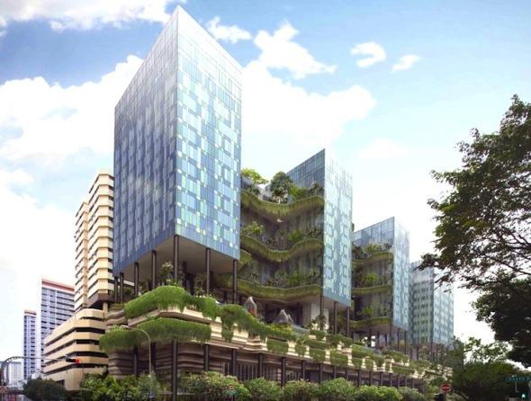 Torre con 15.000 metros cuadrados de espacio verde