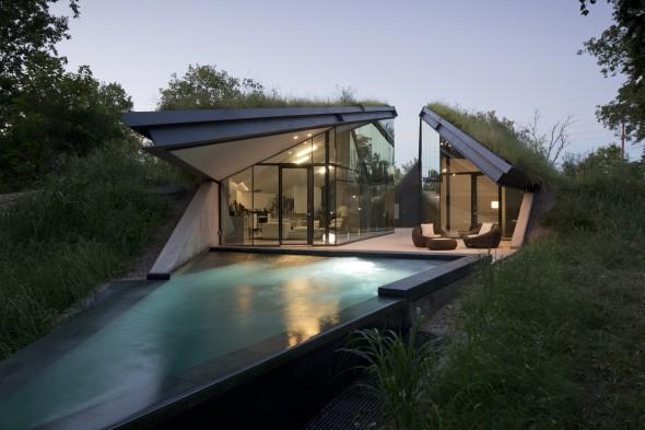 Casa con calefacción natural