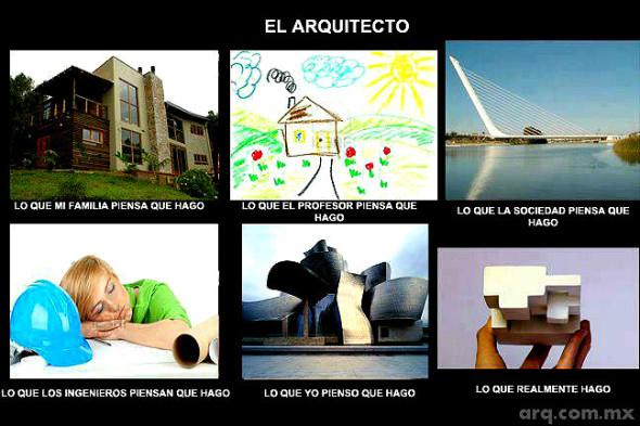 Humor en la arquitectura. Lo que hacen los arquitectos