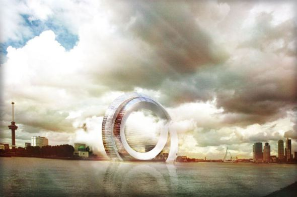 Molino de viento habitable que produce energía