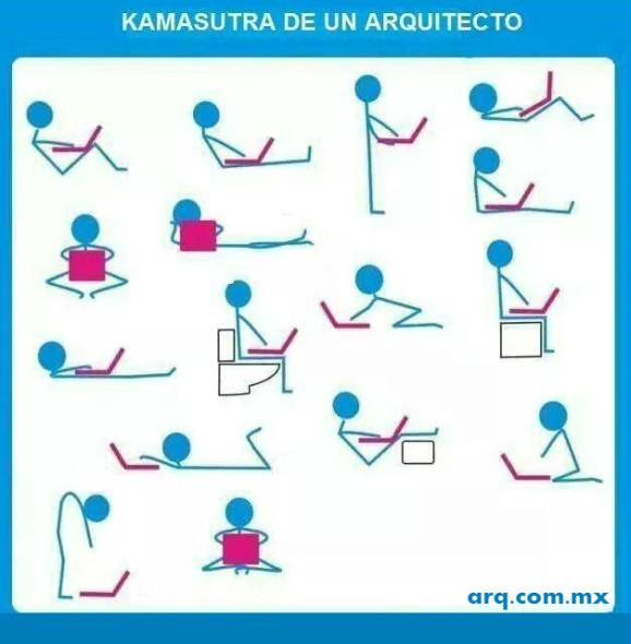 Humor en la arquitectura. El kamasutra para los arquitectos