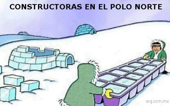 Humor en la arquitectura. Constructoras en el Polo Norte