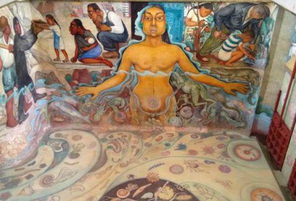 Obra de Diego Rivera que permaneció años bajo el agua