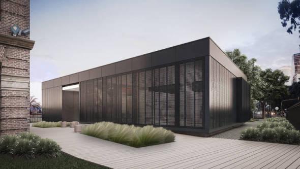 Pabellón diseñado con el sistema steel frame estará listo en seis meses