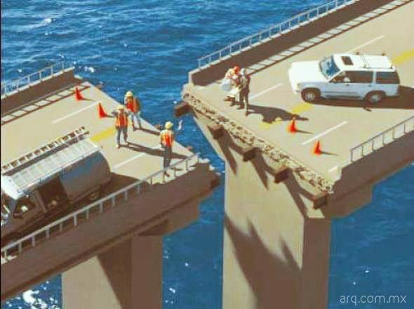 Humor en la arquitectura. Conectando puentes