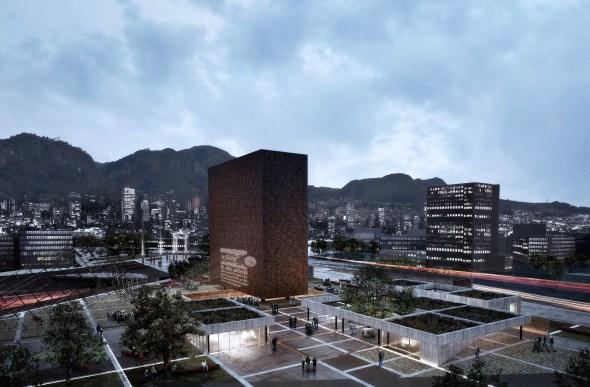 Propuesta ganadora del segundo lugar del Museo Nacional de Memoria de Colombia