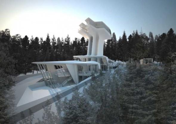 La nave espacial que diseñó Zaha Hadid a Naomi Campbell
