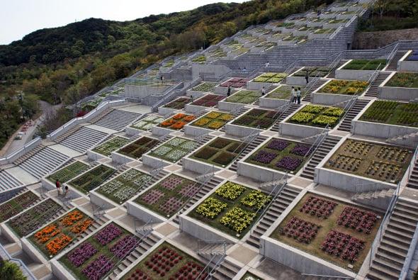 El jardín de los 100 escalones de Tadao Ando