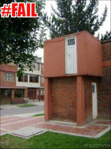 Humor en la Arquitectura. Y las escaleras