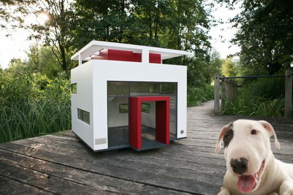 Humor en la arquitectura. Casa para mascotas al estilo Le Corbusier