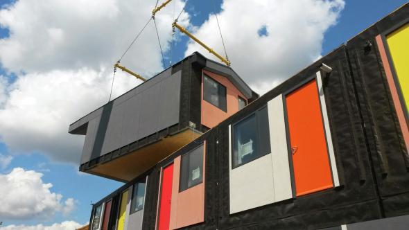 Estudios prefabricados de 26 metros cuadrados diseñados por Richard Rogers