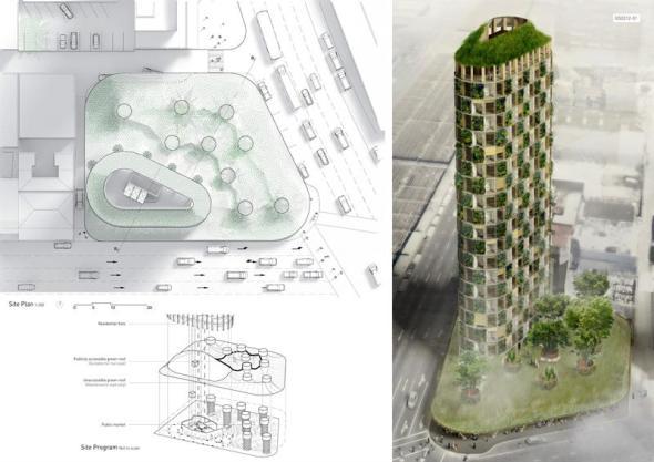La torre de madera imaginaria de Michael Green