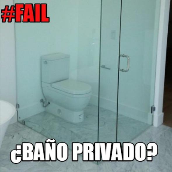 Humor en la arquitectura. Baño privado