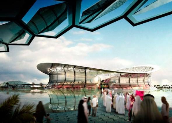 El estadio de la final del Mundial de Qatar 2022