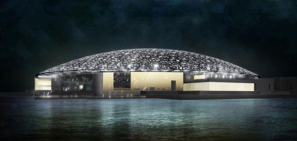 Culmina la construcción de cúpula del Museo de Louvre de Abu Dabi